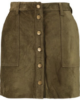Current/Elliott Naval Suede Mini Skirt