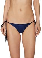 One Teaspoon Waxed Tiny Tie Side Bikini Bottom