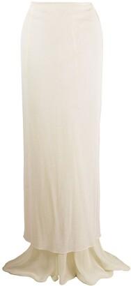 Romeo Gigli Pre Owned 2000s Sheer Maxi Skirt