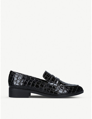 Aldo Langlet snakeskin-embossed faux-leather loafers