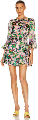 Saloni Marissa Mini-C Dress in Geranium | FWRD