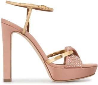 Malone Souliers 120mm Lauren crystal-embellished sandals