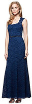 Alex Evenings Cap Sleeve Square Neck Lace Gown