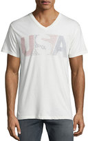 Sol Angeles USA Faded V-Neck T-Shirt, White