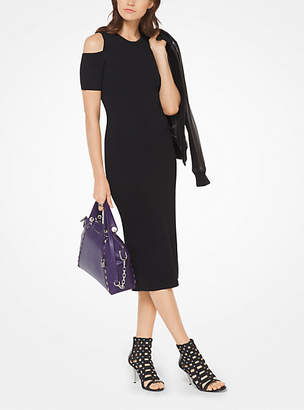 MICHAEL Michael Kors Stretch-Viscose Peekaboo Midi Dress