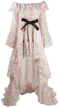 Giambattista Valli Ruffled Floral-Print Gown