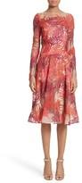 Naeem Khan Women's Threadwork Embroidered Long Sleeve Dress