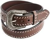 Roper Heavy Contrast-Corded Edging Leather Belt (For Men)