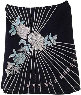 French Connection Black Cotton Skirt for Women