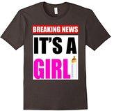 Men's Breaking News It's A Girl Baby Birth Announcement T-Shirt 3XL