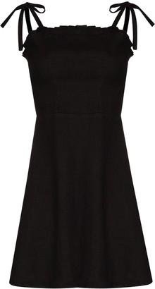 HONORINE Poppy linen mini dress