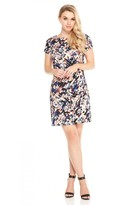 London Times T2831MJC Short Sleeve Floral Print Dress