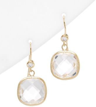 Rivka Friedman 18K Clad Rock Crystal Earrings