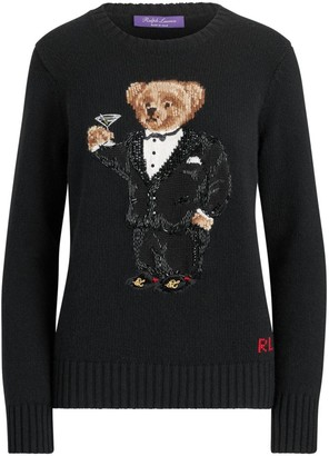 Ralph Lauren Martini Bear Cashmere Crewneck Sweater