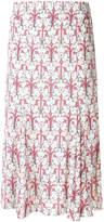 Prada floral print midi skirt