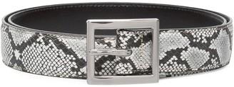 Amiri Snake embossed buckled belt