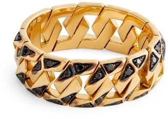 Bare Fine Yellow Gold and Black Diamond BOND Signature Ring