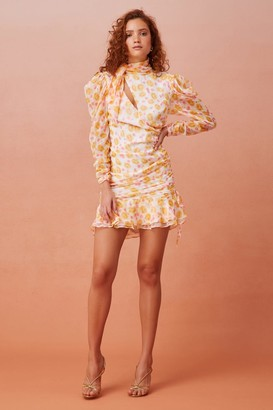 Keepsake DISSOLVE LONG SLEEVE MINI DRESS porcelain rose