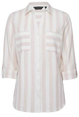Dorothy Perkins Womens Pink Striped Linen Look Shirt, Pink