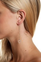Jessica Simpson Crystal Detail Circle Drop Threader Earrings