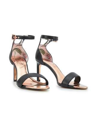 Ted Baker Ankle Strap Leather Sandals Colour: BLACK, Size: UK 8