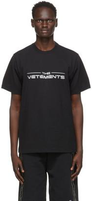 Vetements Black The Logo T-Shirt