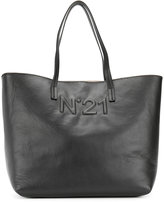 No.21 logo embossed tote - women - Leather - One Size