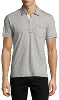Billy Reid Pensacola Space-Dye Polo Shirt, Navy