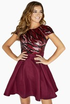 Little Mistress Marcia Patterned Sequin Prom Dress
