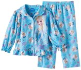 Disney Girls' Frozen Sisters Olaf Sparkle Snowflakes Pajama Coat Set
