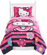 Hello Kitty Floral Ombre 4-Piece Bed Set