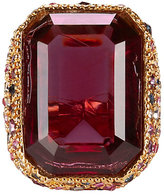 Kenneth Jay Lane Crystal Cocktail Ring
