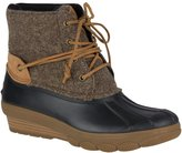 Sperry Women's Saltwater Wedge Tide Wool Ankle Boots, Brown/Canteen