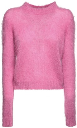 Alberta Ferretti Knit Mohair Blend Crewneck Sweater