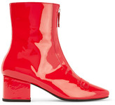 DORATEYMUR - Double Delta Patent-leather Ankle Boots - Red