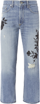 Rag & Bone Marilyn Embroidered Crop Jeans