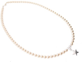 Swarovski Chic A Boo Crystal Cream Pearl and Sterling Silver Star Necklace of Length 35cm