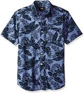 Jack Spade Men's Clift Short Sleeve Tropics Point Collar Shirt