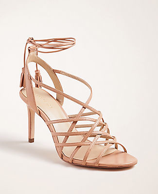 Ann Taylor Oren Leather Heeled Sandals