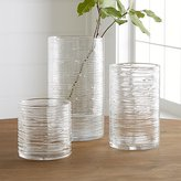 Crate & Barrel Spin Glass Hurricane Vases/Candle Holders
