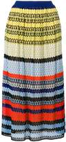 Missoni striped crochet-knit skirt