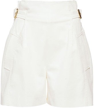 Alberta Ferretti Stretch Cotton Gabardine Shorts