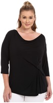 Marika Curves Plus Size Hannah 3/4 Sleeve Top