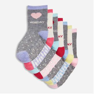 Joe Fresh Baby Girls' 7 Pack Socks, Multi (Size 0-12)