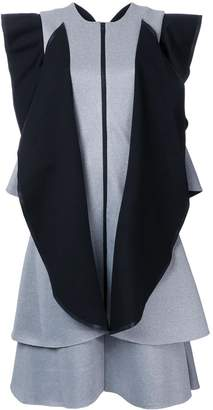 Rob-ert Robert Wun contrast ruffle dress