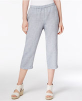 Linen Crop Pants - ShopStyle