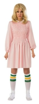 BuySeasons Women's Stranger Things Replica Eleven's Adult Dress