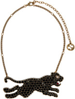 Gucci Gold and Black Tiger Necklace