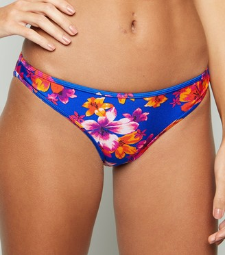 New Look Tropical Floral Hipster Bikini Bottoms