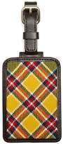 Brooks Brothers Yellow, Red and White Plaid Luggage Tag
